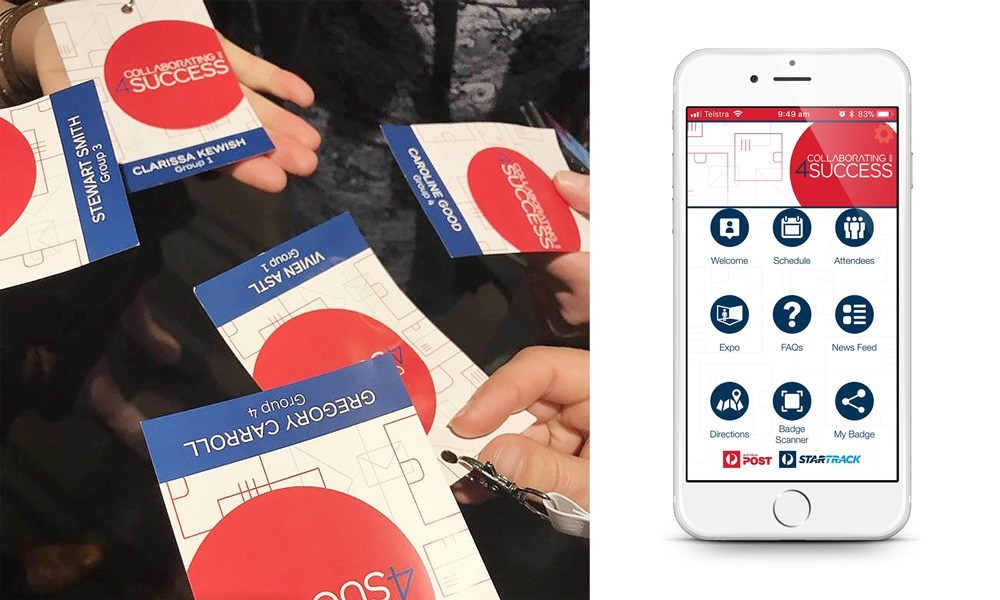 delegate badges and app on phone