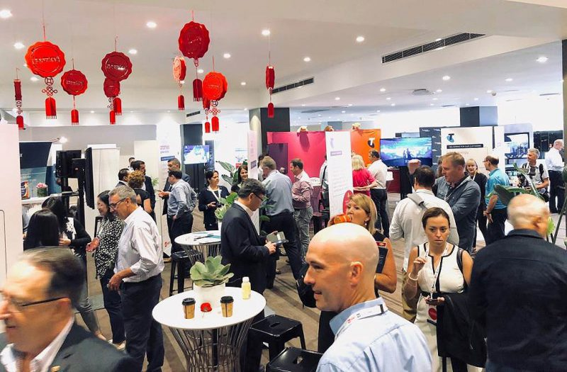 attendees networking at the Auspost conference