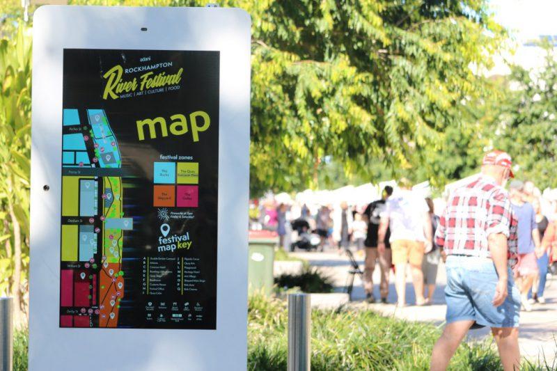 Rockhampton River Festival map