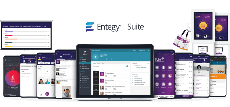 Array of Entegy Suite products on devices