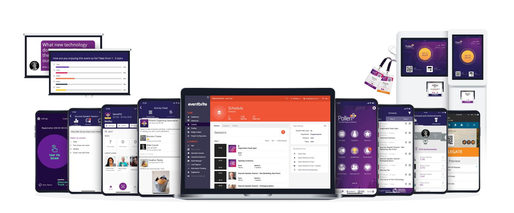 Entegy Suite shown on devices