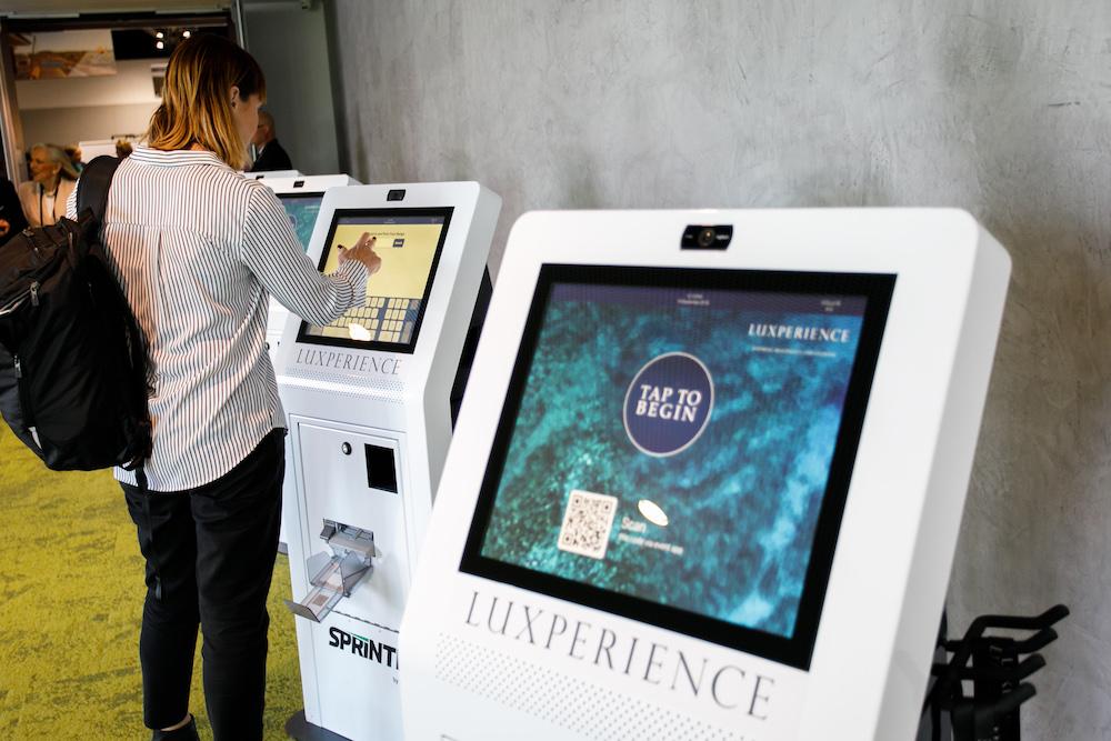person printed a badge via self serve kiosk