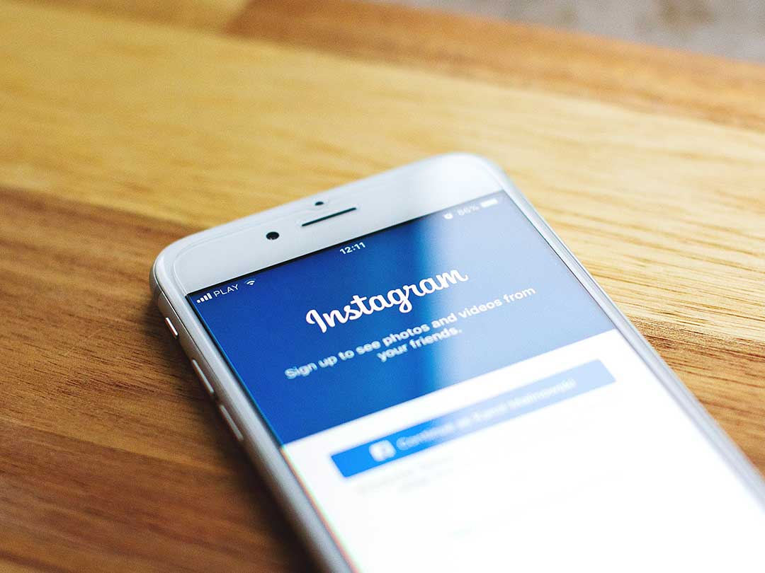phone with instagram login page