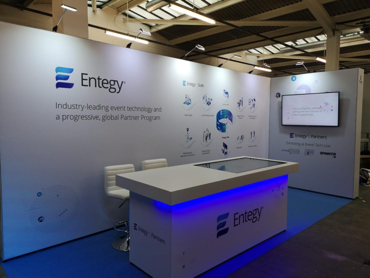 Entegy booth at Event Tech Live