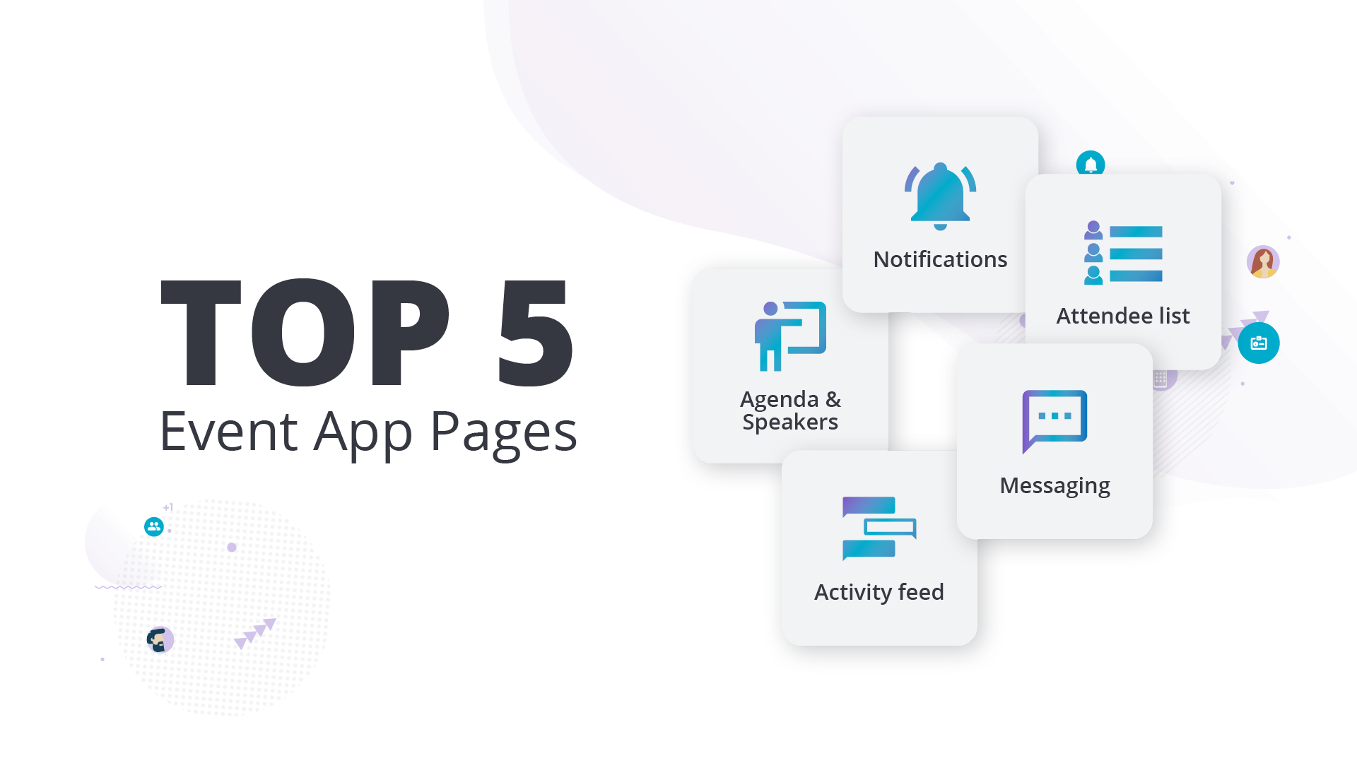 Top 5 event app pages