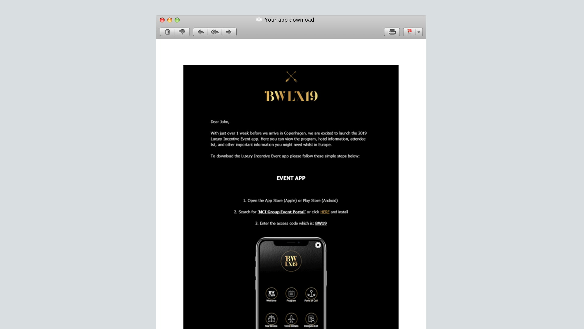 app email campaign